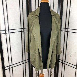 Zara Basic Green Utility Jacket